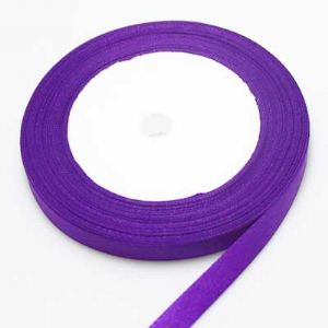 Satin ribbon, Dark purple, 1cm x 21m, 1 piece, (SDD067)